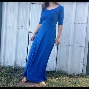 Beautiful blue LulaRoe Ana maxi dress size large